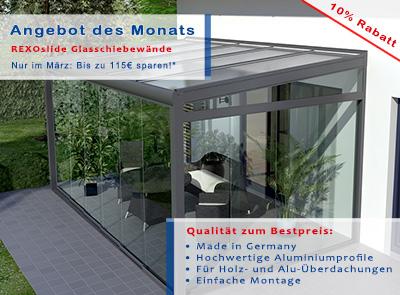 glasschiebew nde rexoslide 10 reduziert angebot des monats das rexin magazin. Black Bedroom Furniture Sets. Home Design Ideas