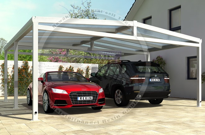 aluminium carport rexoport das rexin magazin. Black Bedroom Furniture Sets. Home Design Ideas