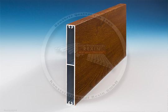 Alu Balkonbretter Design Golden Oak Holz