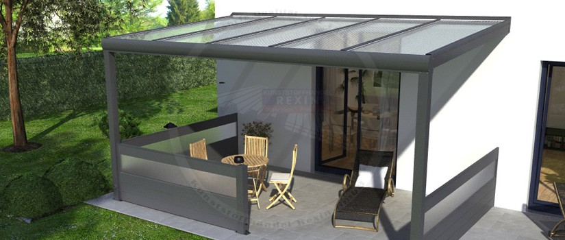 Zusatzpfosten-Set für Alu-Terrassendächer