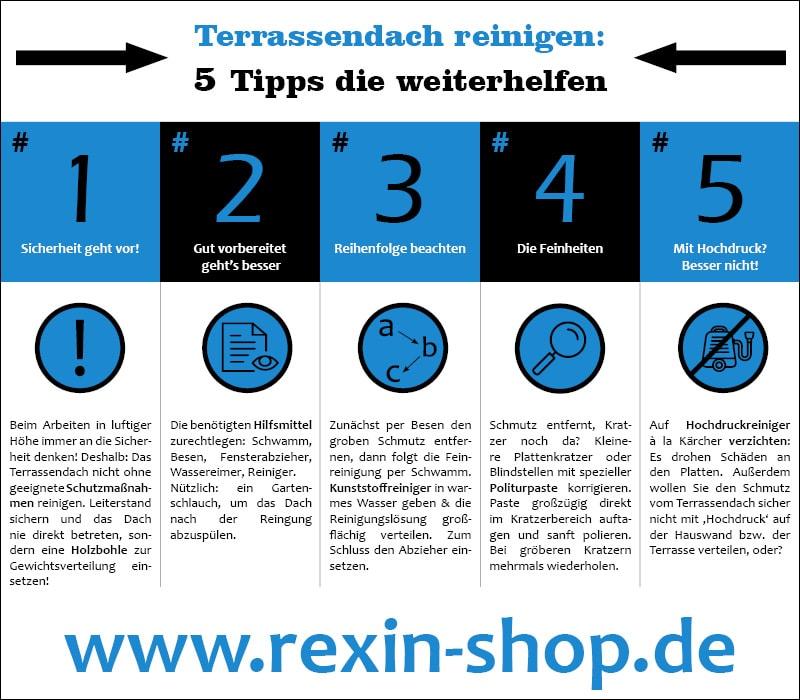 terrassendach reinigen 5 tipps die weiterhelfen das rexin magazin. Black Bedroom Furniture Sets. Home Design Ideas