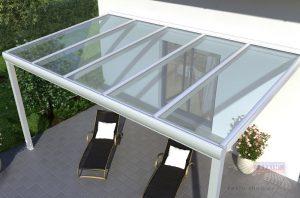 alu terrassendach rexopremium vsg glas weiss ansicht das. Black Bedroom Furniture Sets. Home Design Ideas