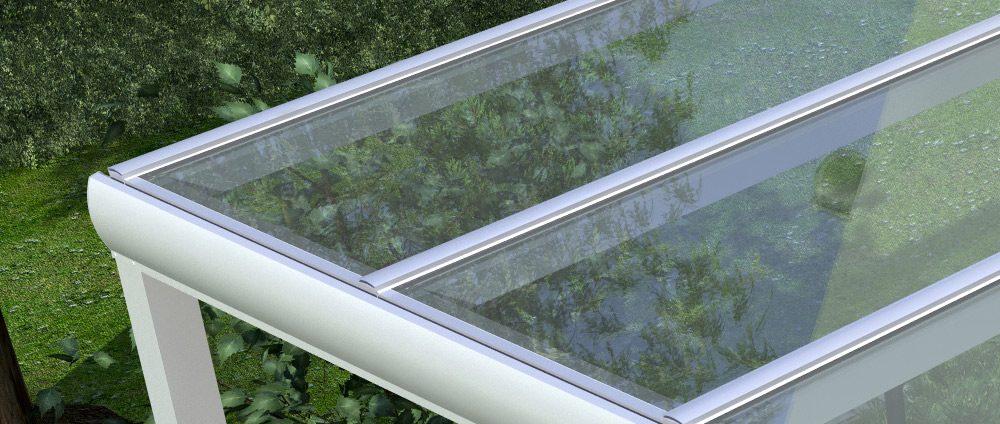 Alu-Terrassendach inklusive VSG-Glas