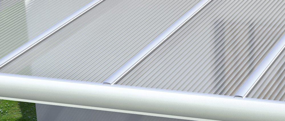 Turbo Alu-Verbinderprofile & Alu-Randprofile für 16mm Stegplatten - Das LK23