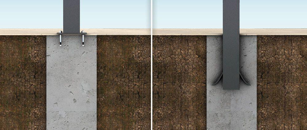 welches fundament f r die terrassen berdachung das. Black Bedroom Furniture Sets. Home Design Ideas
