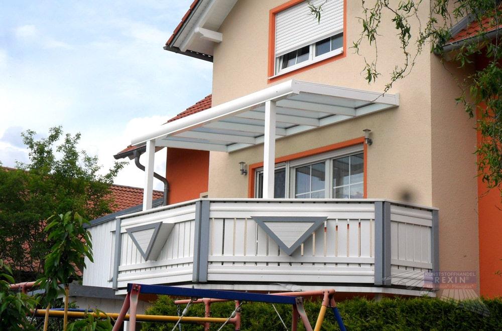 Ein Alu-Terrassendach REXOpremium. Oder sollte man besser sagen: ein Balkon-Dach?