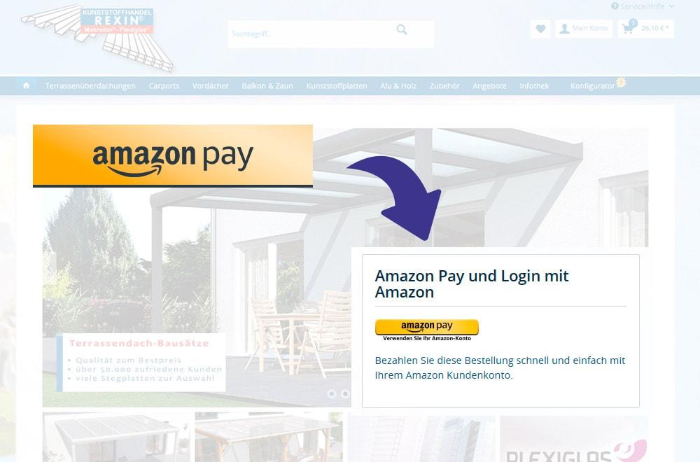 Ab sofort können Sie bei REXIN auch mit Amazon Pay bezahlen.