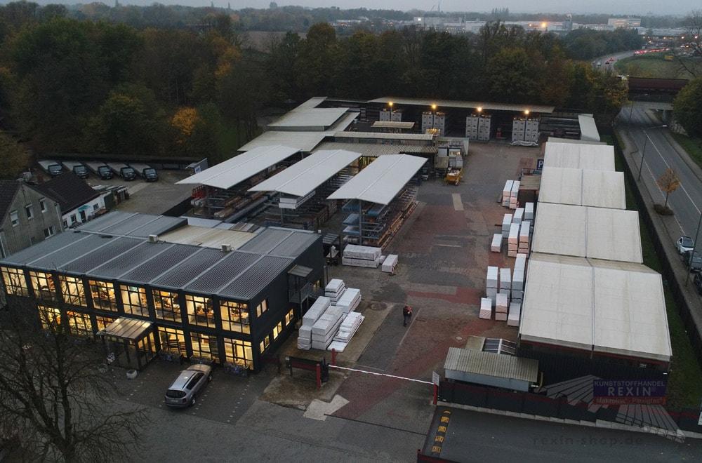 Kunststoffhandel REXIN in Bottrop: Trotz vorbildlicher Lagerverwaltung fehlt es an Platz.
