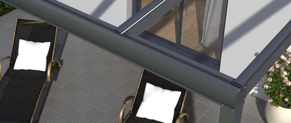 Alu-Terrassenüberdachung – neue Dachbreiten