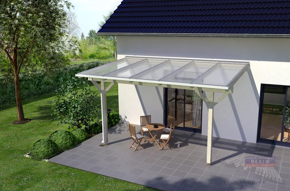 REXOcomplete: Unser Holz-Terrassendach zum selber bauen - Sonderposten mit kostenlosem Meisteranschnitt jetzt günstig!