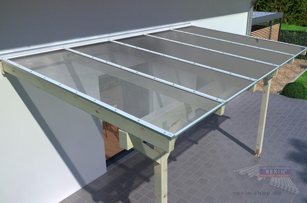 Terrassendach per Bausatz renovieren - mit unseren REXOtop Komplettpaketen inklusive Stegplatten.