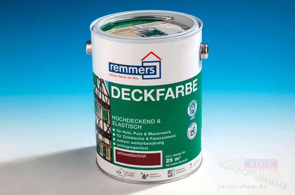 Eine beliebte Holzschutzcreme: Deckfarbe 'Schwedischrot'.
