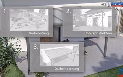 Terrassendach-Montage leicht gemacht - mit unserer ausführlichen Video-Aufbauanleitung.