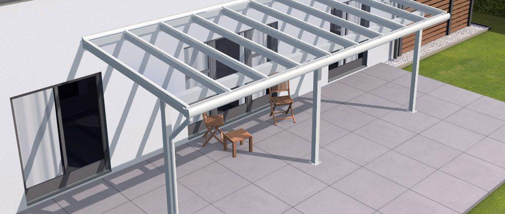Alu-Terrassendach REXOclassic jetzt mit VSG