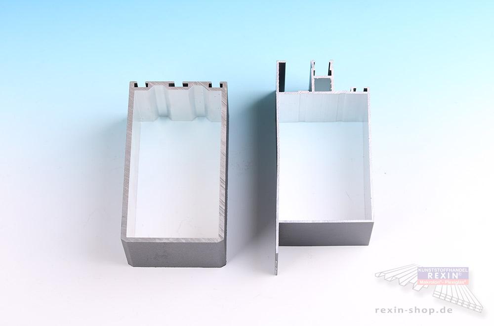 Die Qualiät der Alu-Profile ist von außen nicht einfach zu erkennen: Links REXIN Qualitätsware, rechts zum Vergleich ein Billiganbieter.