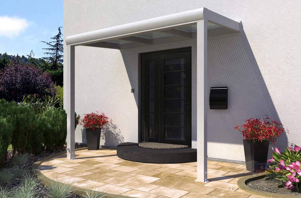 Perfekt gegen Wind & Wetter: Ein Alu Haustür-Vordach REXOvita.