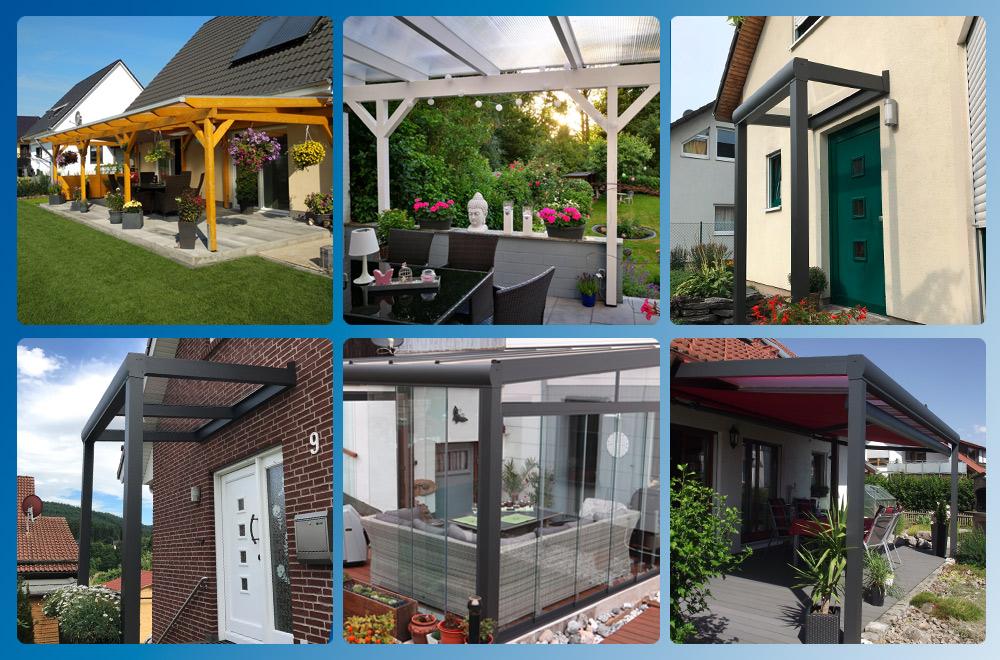 Wunderschöne Terrassendächer, Haustür-Vordächer, Gartenzimmer entdecken & Ideen sammeln mit unseren Jahrescharts.