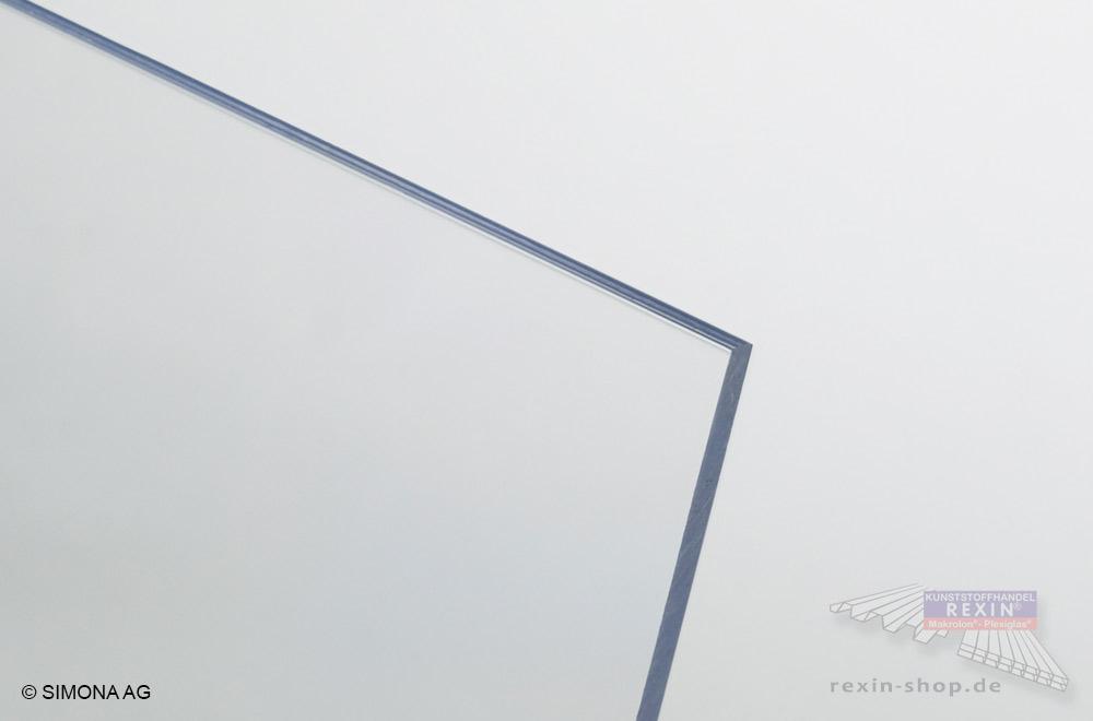 Technischer Kunststoff  Hart-PVC, hier transparent - auch PVC-Glas genannt.