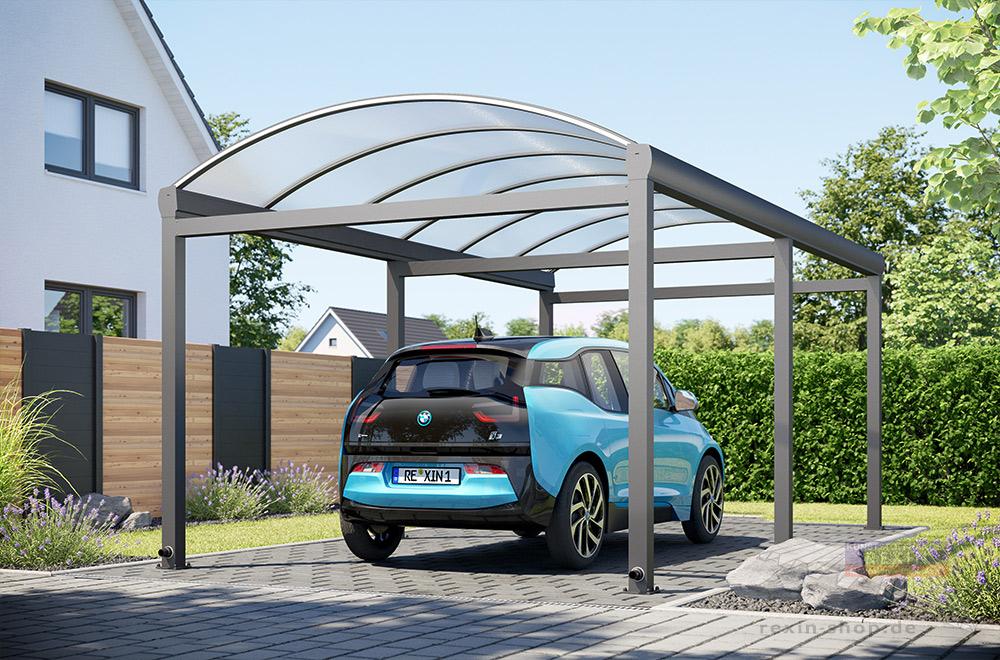Ein Rundbogen Alu-Carport: Der hochwertige Unterstand für Ihr Fahrzeug.