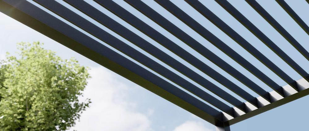 Lamellendach für Terrassendach und Pergola