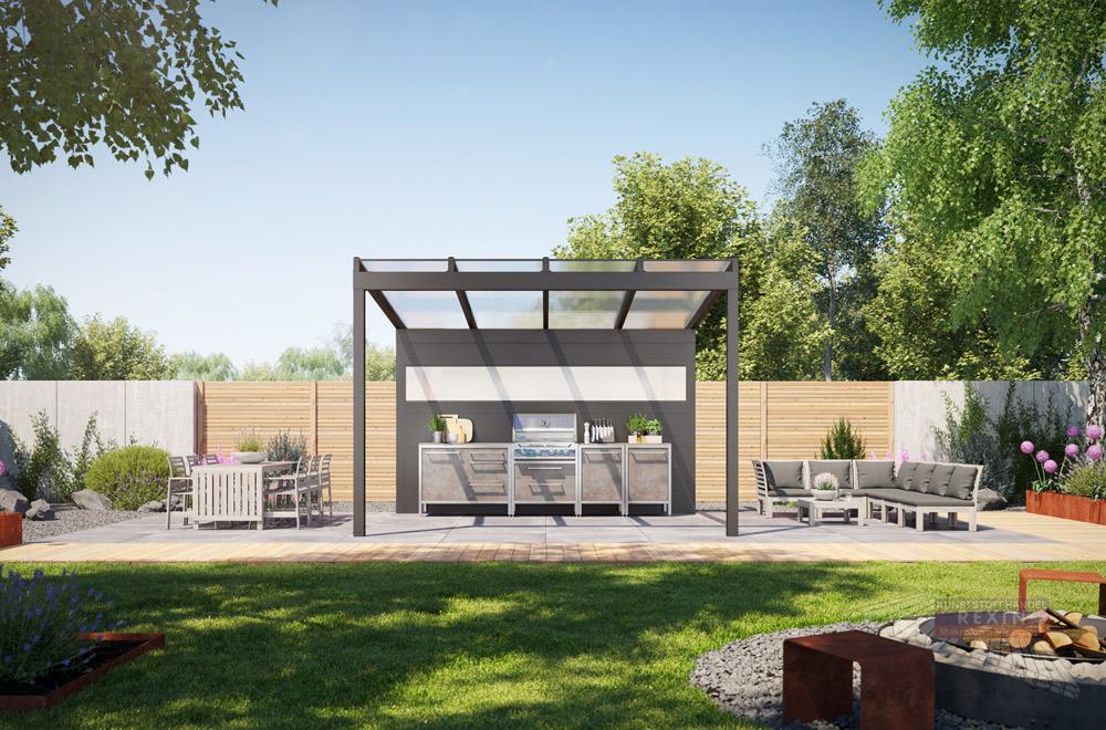 Die Outdoorküche überdachen - Das Rexin Magazin