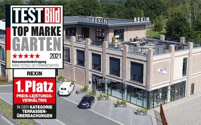 Terrassendächer: Rexin ist Topmarke.