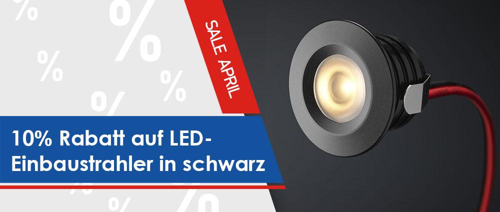 LED-Beleuchtung in schwarz für das Terrassendach 10% reduziert [Angebot des Monats]