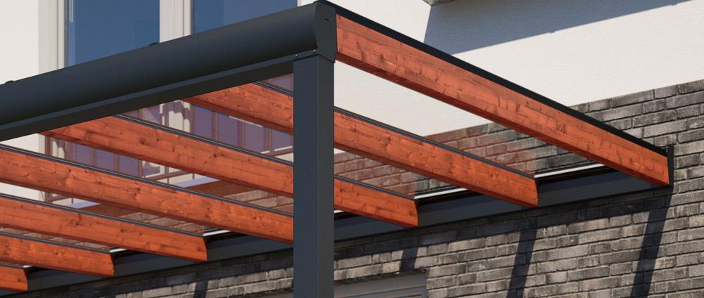 REXOdeluxe – ein Hybrid-Terrassendach aus Alu und Holz