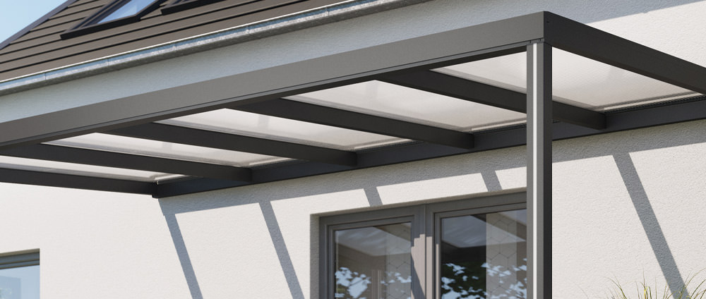 Abdeckprofil für Nutpfosten als Ergänzung für das Alu-Terrassendach REXOconomy