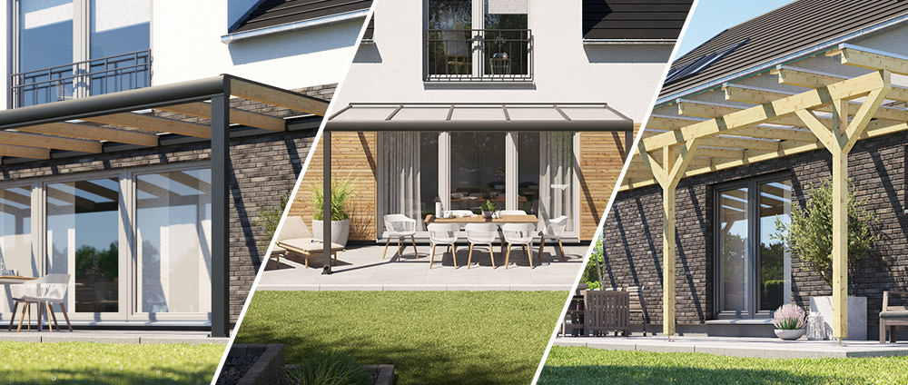Terrassenüberdachung – aus Holz oder Alu?