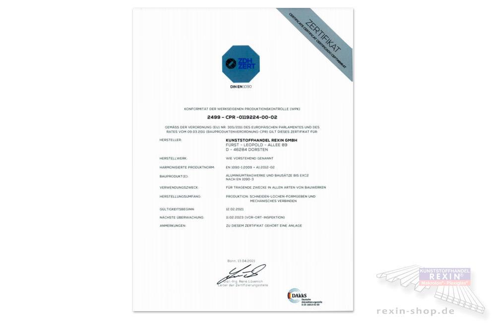 Der Kunststoffhandel ist ein zertifizierter Betrieb.