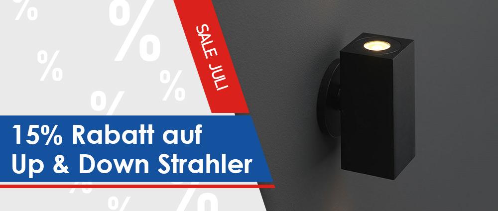 15% Rabatt auf Up & Down LED-Strahler [Angebot des Monats]