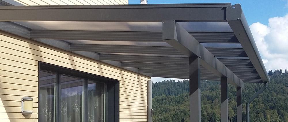Alu-Terrassendach REXOclassic als Komplettbausatz