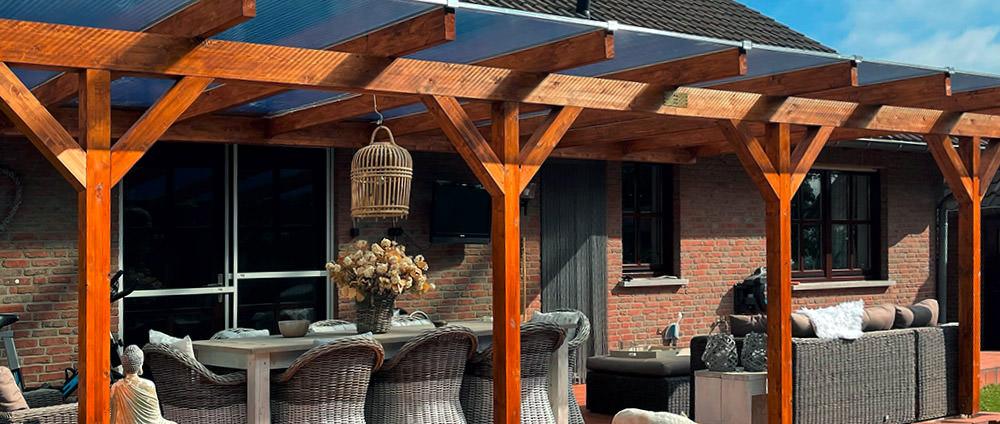 Zusatzpfosten-Set für Holz-Terrassendächer